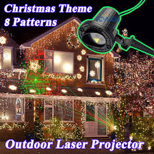 laser snowflake showers projector lights decorations