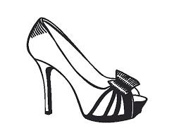 platform shoe with bow coloring page coloringcrew com