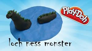 learn how to make loch ness monster for kids using modellign clay