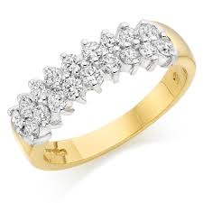 gold eternity rings 18ct gold diamond half eternity ring 0000043 beaverbrooks the