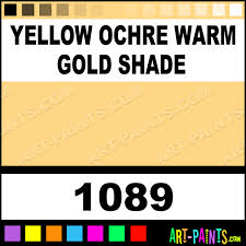 yellow ochre warm gold shade pigment set oil paints 1089