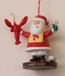 santa holding lobster ornament br cape cod br by cape shore