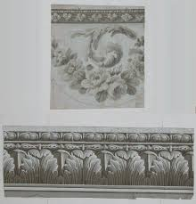 architectural wallpaper border french c 1800 06 05 04 sold