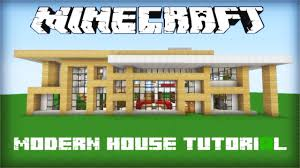 minecraft modern house tutorial part youtube