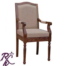 Buy Office Desk Online India Buy Maharaja Cushioned Wooden Chair With Arms Online In India