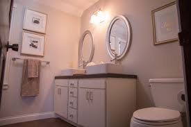 Diy Bathroom Curtains Remodelaholic Diy Concrete Countertops In A Beautiful Master