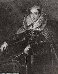 sketch of mary queen of scots found under portrait daily mail online