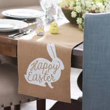 Dining Room Table Runner by Burlap Happy Easter Bunny Table Runner Runners Table Runners
