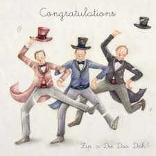 wedding day congratulations congratulations a wedding day card featuring the groom and best men