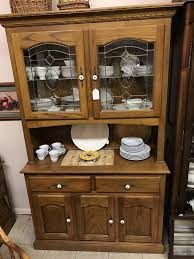 china cabinets hutches leaded glass oak china cabinet