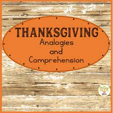 thanksgiving analogies and comprehension comprehension therapy
