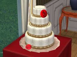 wedding cake sims 4 banana cake this cake would look great with eris3000 s pink