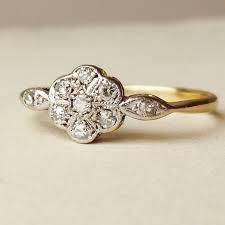 antique gold engagement rings flower engagement ring vintage best of deco flower