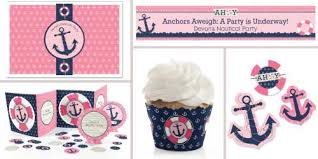 baby shower anchor theme ahoy nautical girl baby shower theme bigdotofhappiness