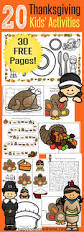 over 20 free pages of thanksgiving activities for kids place