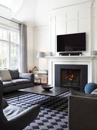Interior Design Fireplace Living Room Tv Above Fireplace Houzz