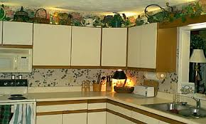 Above Kitchen Cabinet Ideas Fake Plants Above Kitchen Cabinets