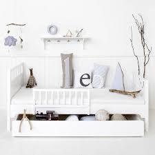 white wood scandinavian single bed by nubie modern kids boutique