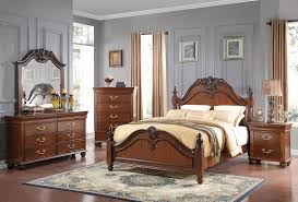 Royal King Bed New Classic Furniture Jaquelyn Bedroom Set In Heritage Cherry