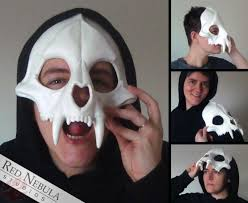 halloween skeleton mask big cat skull mask blank u2013 red nebula studios