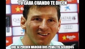 Los Memes De Messi - los memes del penal fallado de messi y la goleada del barza foto