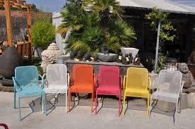 Mobilier Terrasse Design Chaise Design En Acier Pour Table Extérieur Mwh Empilable Carnet