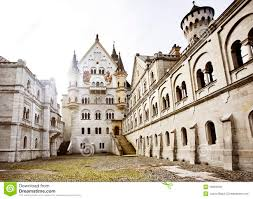 courtyard of neuschwanstein castle stock image image 18333539