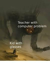 Computer Problems Meme - teacher with computer problem kid with glasses teacher meme on me me