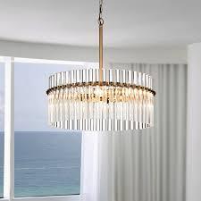 brushed brass light fixtures casandra 4 light brushed brass pendant crystal chandelier free