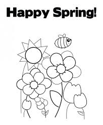 free spring coloring pages kindergarten toddlers kids
