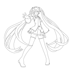 vocaloid coloring pages coloring pages vocaloid coloring pages