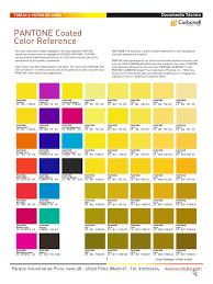 1 carta pantone coated referencia pdf trademark cyan