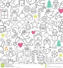 christmas wrapping paper sale merry christmas wrapping paper pattern outline icons stock vector