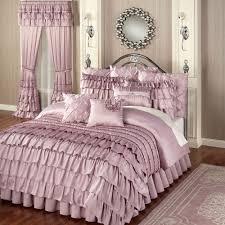 Waterfall Design Bedroom Set Bedroom Enchanting White Ruffle Comforter For Bedroom Decoration