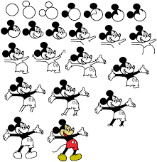 mickey mouse simple drawing drawing sketch picture