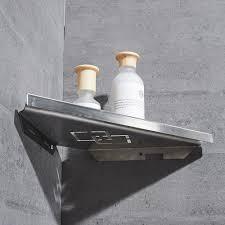 bathroom shelves brushed nickel stainless steel 304 wall bathroom