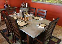 concrete and wood dining table diy concrete dining table diy pete
