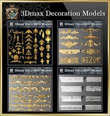 all 3d max decoration models bundle best recommanded cad
