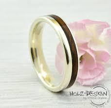 verlobungsring silber oder gold verlobungsring mit holz inlay trauring weißgold silber gold