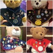 tiny c blankets for teddies used to display pin badges