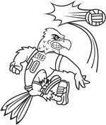 volleyball coloring free printable coloring pages