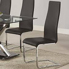 Office Dining Furniture by Amazon Com Coaster 100515blk Dining Chair Black Faux Leather