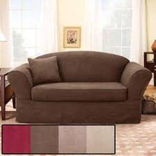 stretch plush black t cushion loveseat slipcover overstock