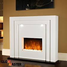 White Electric Fireplace Fire Pit Electric Fireplace Surround Living Room Floor Standing