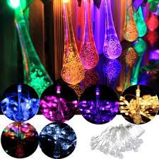 30 led solar powered raindrop fairy string light outdoor xmas