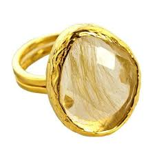 golden gold rings images Gold plated 925 sterling silver golden rutile stone ring at rs 500 jpg