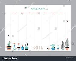 summer holiday planner template scandinavian weekly daily planner template organizer stock vector
