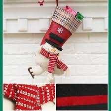 aliexpress com buy 3pcs set christmas stocking plaid santa claus