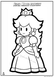 super mario princess coloring pages