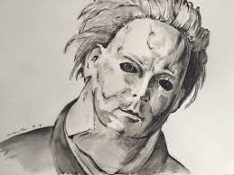 halloween theme background michael myers michael myers face drawing image gallery hcpr